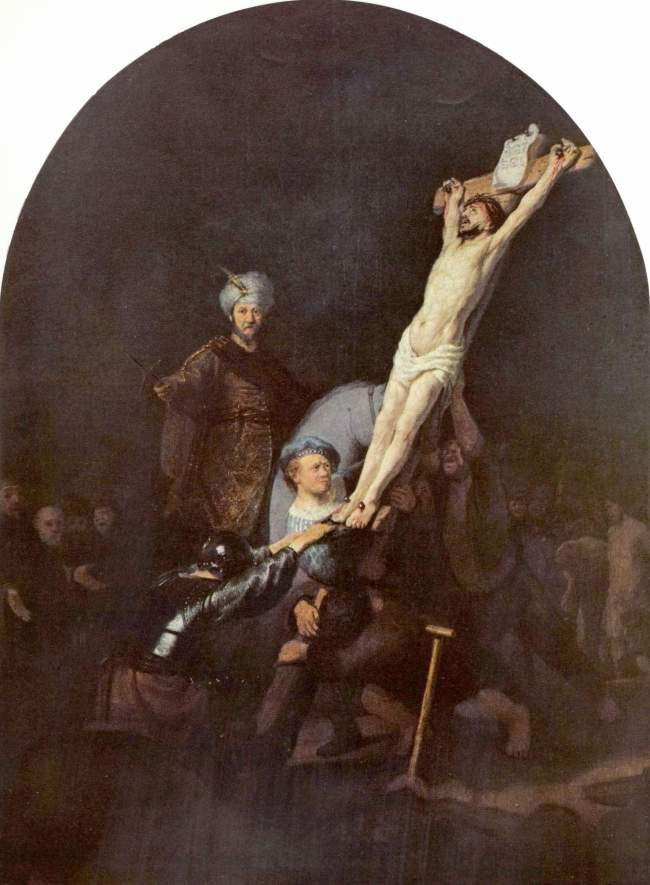 Rembrandt Raising the Cross