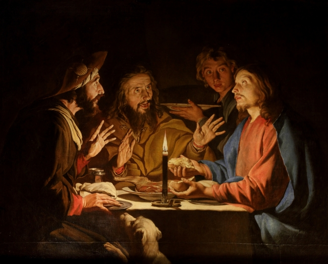 Breaking bread emmaus